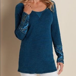 Soft Surroundings | Tao Top Blue Thermal Cuff